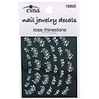 Cina Nail Creations Nail Art Jewelry Decals Ice Sparkles Rhinestones in Roses