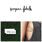 Tattify Semper fidelis - Temporary Tattoo (Set of 2)