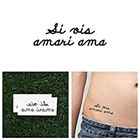 Tattify Si Vis Amari Ama - Temporary Tattoo (Set of 2)