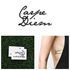 Tattify Carpe Diem - Temporary Tattoo (Set of 2)