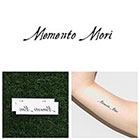 Tattify Memento Mori - Temporary Tattoo (Set of 2)