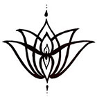 A Shine To It Temporary Tattoo Elegant Lotus Flower Hand Drawn Geometric Illustration