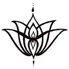 A Shine To It Temporary Tattoo Elegant Lotus Flower Hand Drawn Geometric Illustration