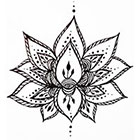 A Shine To It Lotus Flower Temporary Tattoo Hand Drawn Henna Style