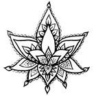 A Shine To It Lotus Flower Temporary Tattoo Hand Drawn Henna Style Illustration