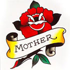 Tattoo You Small Mother Rose Temporary Tattoo, Classic Tattoo Style, Traditional Tattoo, by Nick Colella