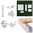 Tattify Fold You So - Temporary Tattoo Pack (Set of 10)