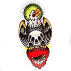 Tattoo You Temporary Eagle Skull Rose Tattoo, Classic Tattoo, Vintage Tattoo, Traditional Tattoo by Chris Stuart