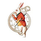 Wickedly Lovely I'm late, Alice In Wonderland, White Rabbit and Pocket watch Wickedly Lovely Skin ArtTemporary Tattoo