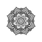 myTaT Mandala Tattoo, Black Mandala, Henna Mandala Temporary Tattoo (Set of 2)