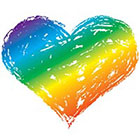 myTaT Rainbow Heart Tattoo, Heart Tattoo, Gay Pride Tattoo, Pride Festival Temporary Tattoo (Set of 2)