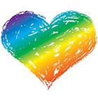 myTaT Rainbow Heart Tattoo, Heart Tattoo, Gay Pride Tattoo, Pride Festival Temporary Tattoo (Set of 2)