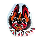 Tattoo You Traditional Bat Head Temporary Tattoo by Dusty Neal. Great for Halloween!