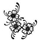 JoellesEmporium Floral Temporary Tattoo, Flower Temporary Tattoo, Nature Art, Tattoo Temporary, Birthday Gift, Black, Body Art, Nature Temporary Tattoo