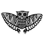 JoellesEmporium Owl Temporary Tattoo, Nature Temporary Tattoo, Animal Art, Tattoo Temporary, Gift Idea, Black, Minimalist Art, Modern Illustration