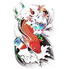 NovuInk Zen Japanese Gold Koi Carp Waterproof Temporary Tattoo Transfer (Original Hand Painted Art Design)