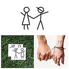 Tattify Stick Together - Temporary Tattoo (Set of 2)