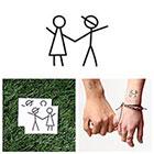 Tattify Stick Together - Temporary Tattoo (Set of 2)
