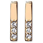 Stella Valle Raise the Bar Earrings with Swarovski Crystals - Gold
