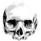 JoellesEmporium Skull Temporary Tattoo, Gothic Art, Large Temporary Tattoo, Tattoo Temporary, Skull Sketch, Black, Birthday Gifts Men, Gift Idea
