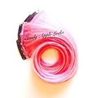 CandyAppleLocks Strawberry Extensions, Pastel Pink Clip in Human Hair Extensions, Dip Dye, Ombre Rainbow Hair Dye