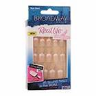 Broadway Nails Real Life Press-On Nails, Real Short, Pink