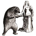 The Fickle Tattoo Vintage Maiden Dancing with Bear Temporary Tattoo -