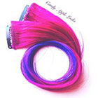 CandyAppleLocks Purple Galaxy, Hair Extensions, Clip in Ombre Human Hair Extension, Dip Dye, Rainbow