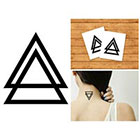 Doodleskin Black Triangles - Temporary Tattoo (Set of 2)
