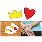 Doodleskin Crown & Heart - Temporary Tattoo (Set of 2)
