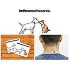 Doodleskin Dogs kiss - Temporary Tattoo (Set of 2)