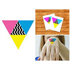 Doodleskin CMYK - Temporary Tattoo (Set of 2)