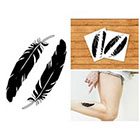 Doodleskin Black feathers - Temporary Tattoo (Set of 2)
