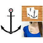 Doodleskin Anchor with small heart - Temporary Tattoo (Set of 2)