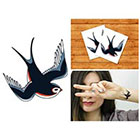 Doodleskin Swallow - Temporary Tattoo (Set of 2)