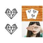 Doodleskin Diamond Hearts- Temporary Tattoo (Set of 2)