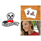 Doodleskin Smart Skully - Temporary Tattoo (Set of 2)