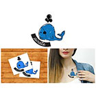 Doodleskin Pirate whale - Temporary Tattoo (Set of 2)