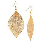 Target Open Leaf Dangle Earring - Gold