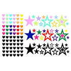 The Fickle Tattoo Stars & Hearts Temporary Tattoo -