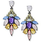 Target Post Top Cluster Statement Earring - Multicolor