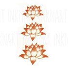 InknArt 3ps Lotus tattoo in 3 sizes - InknArt Temporary Tattoo - wrist quote tattoo body sticker fake tattoo wedding tattoo small tattoo