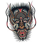 Tattoo You Huge Dragon Mask Temporary Tattoo by Jon Garber