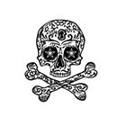 myTaT Skull & Cross Bone Tattoo, Skull Tattoo (Set of 2)