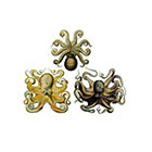 The Fickle Tattoo Vintage Octopus Temporary Tattoos -