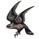 Tattoo You Bird Temporary Tattoo, Falcon Tattoo, by Jon Garber