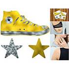 Doodleskin Gold & Silver Metallic All Stars - Temporary Tattoo (Set of 2)