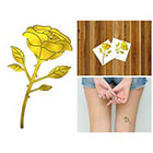 Doodleskin Gold Metallic Rose - Temporary Tattoo (Set of 2)