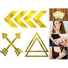 Doodleskin Gold Metallic Arrows - Temporary Tattoo (Set of 2)