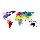 JoellesEmporium World Map Temporary Tattoo, Watercolor Art, Large Temporary Tattoo, Watercolor Temporary Tattoo, Birthday Gifts Women, Gift Idea Mothers Day